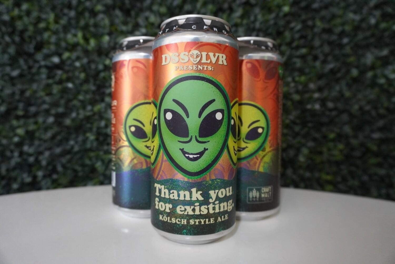 DSSOLVR - Thank You For Existing - Kolsch - 4.8% ABV - 4 Pack