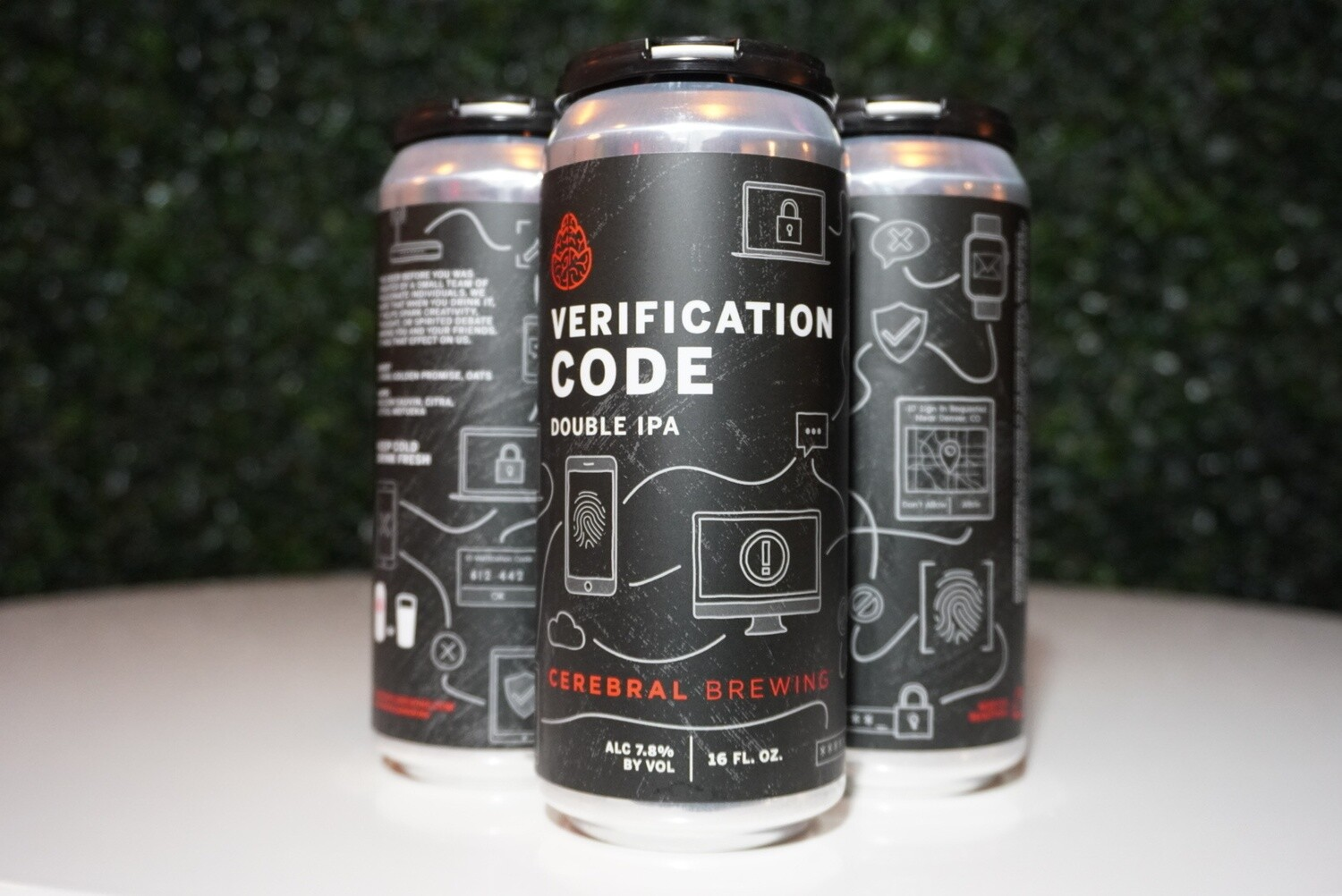 Cerebral - Verification Code - Double IPA - 7.8% ABV - 4 pack