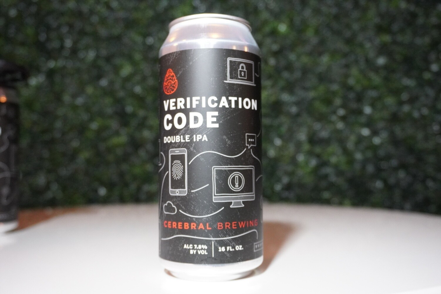 Cerebral - Verification Code - Double IPA - 7.8% ABV - 16oz can