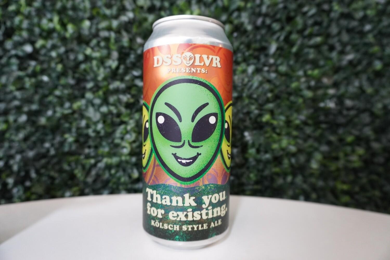 DSSOLVR - Thank You For Existing - Kolsch - 4.8% ABV - 16oz Can
