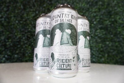 Resident Culture - Country Kind of Silence - German Helles Lager - 4.75% ABV - 4 Pack