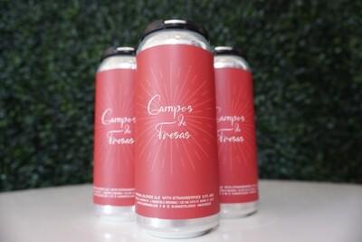J. Wakefield -   Campos De Fresas - Imperial Blonde Ale - 9.5% ABV 16oz Can