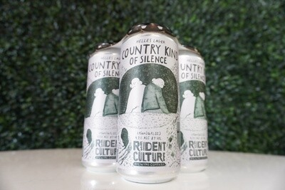 Resident Culture - Country Kind of Silence - German Helles Lager - 4.75% ABV - 16oz Can