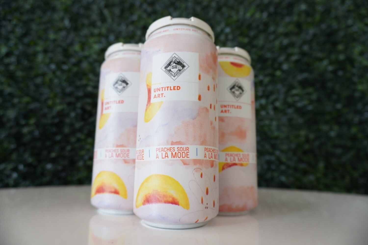 Untitled Art - Peaches Sour Ala Mode - Fruited Sour - 6% ABV - 16oz Can