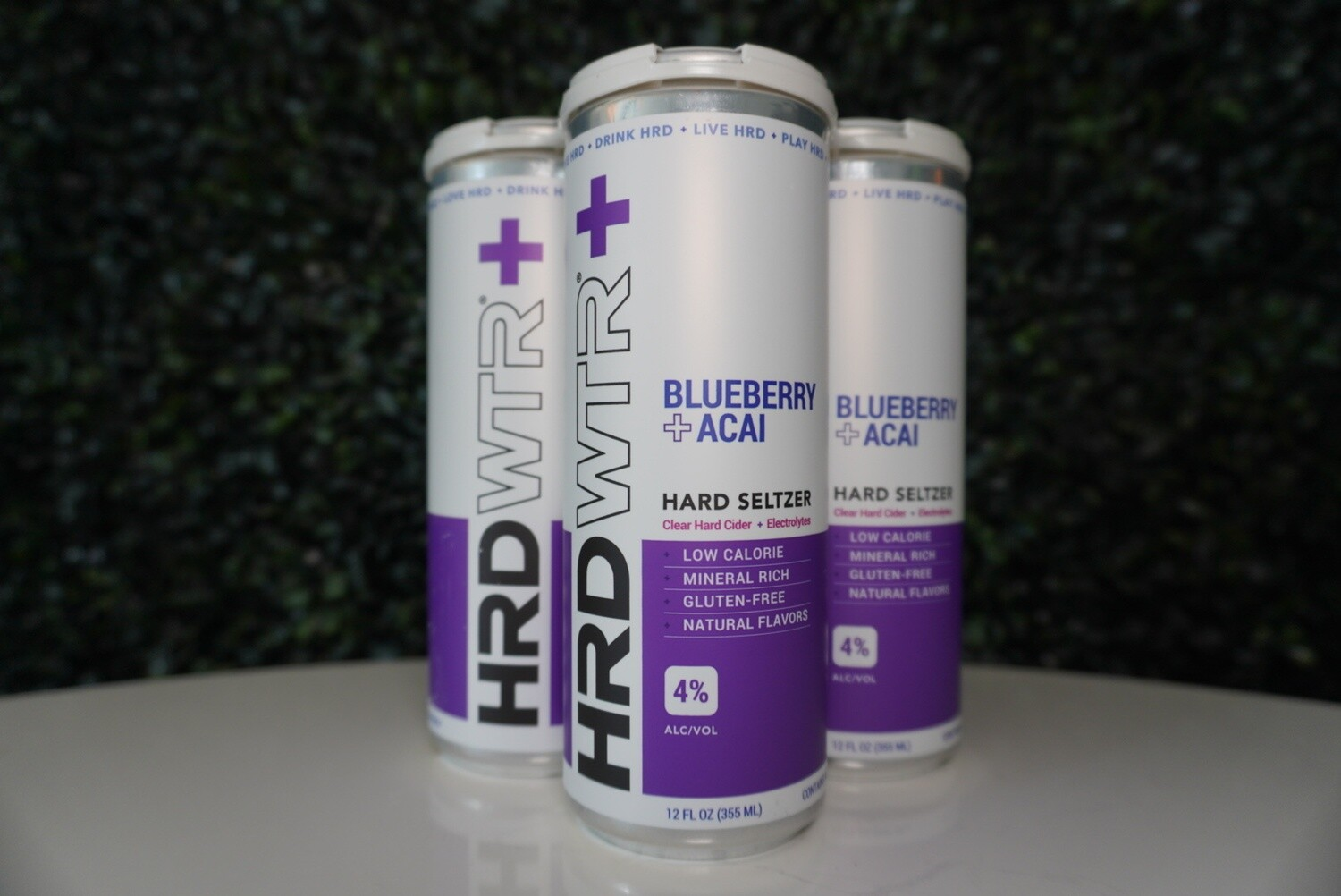 HRD WTR - Blueberry Acai - Hard Seltzer - 4% ABV - 4 Pack