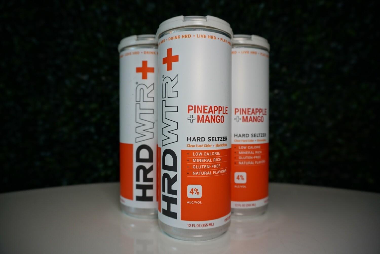 HRD WTR - Pineapple Mango - Hard Seltzer - 4% ABV - 4 Pack