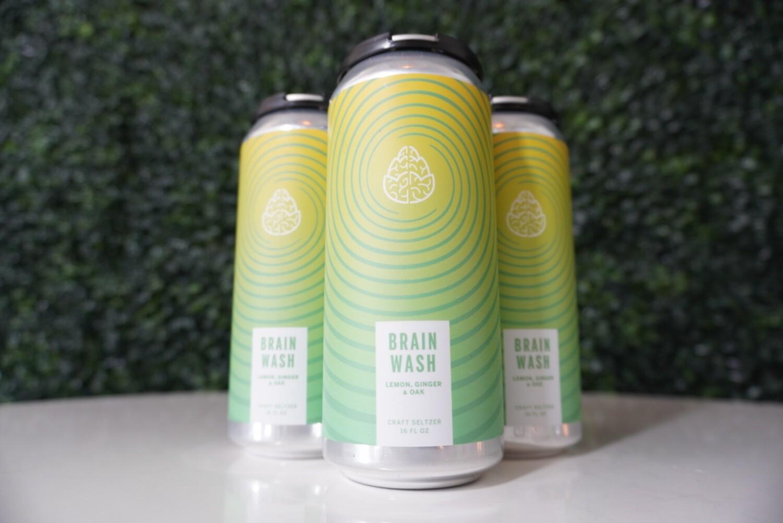 Cerebral - Brain Wash Lemon Ginger - Hard Seltzer - 4.8% ABV - 4 Pack