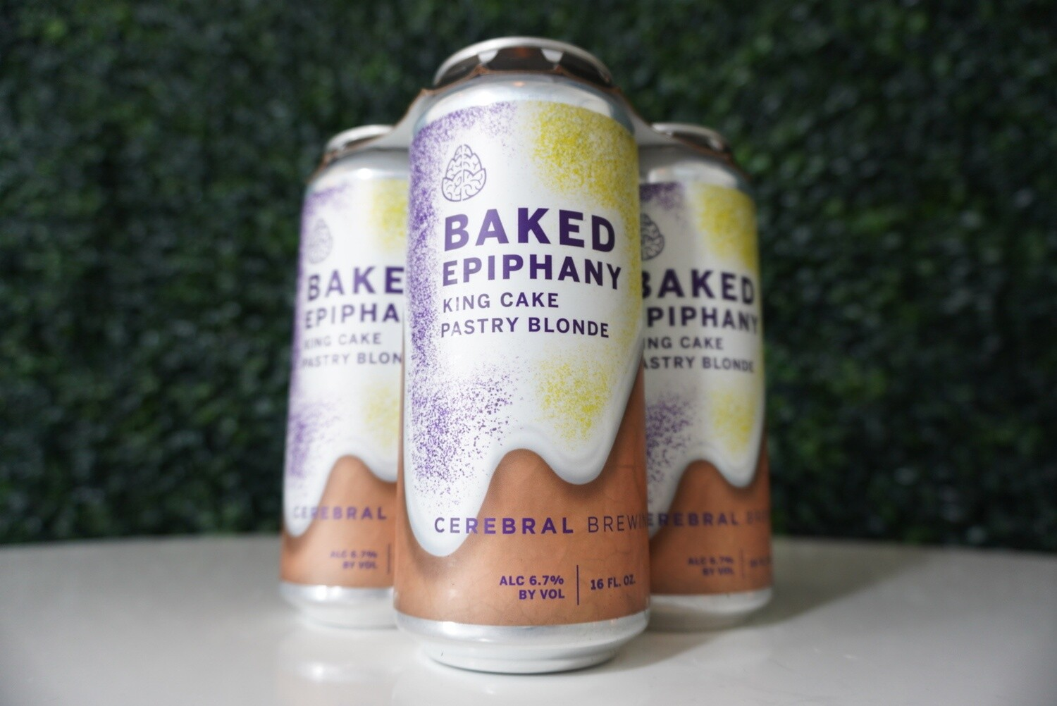 Cerebral - Baked Epiphany King - Pastry Blonde Ale - 7.8% ABV - 16oz Can