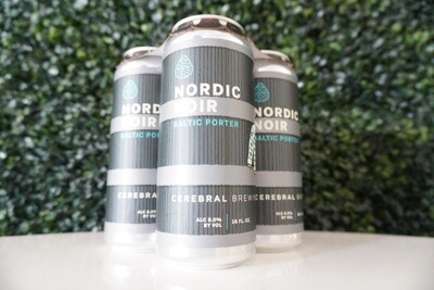 Cerebral - Nordic Noir - Baltic Porter - 8% ABV - 16oz Can