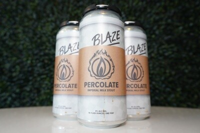 Blaze Brewing - Percolate - Stout - 8% ABV - 16oz Can