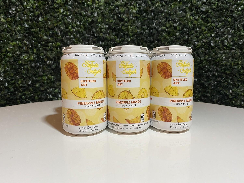 Untitled Art - Mango Pineapple Florida Seltzer - Hard Seltzer - 5.% ABV - 6 Pack