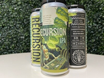 Bottle Logic - Recursion - American IPA - 6.5% ABV - 16oz Can