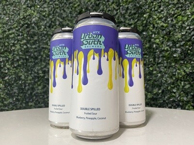Urban South - Double Spilled - Blueberry, Pineapple, Coconut - Fruited Sour - 16oz Can