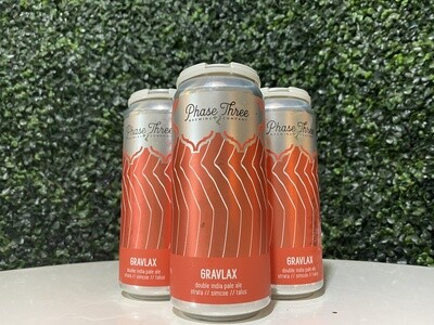 Phase Three - Gravalax - Double IPA - 7.8% ABV - 16oz Can