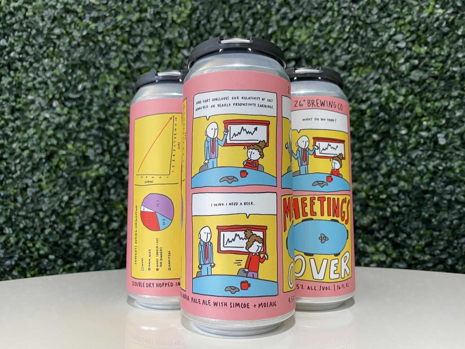 26 Degrees - Meetings Over - Double IPA - 9.7% ABV - 16oz Can