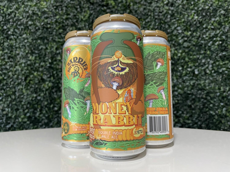 Barrier Brewing - Money Rabbit - DIPA - 9.7% ABV - 16oz Can