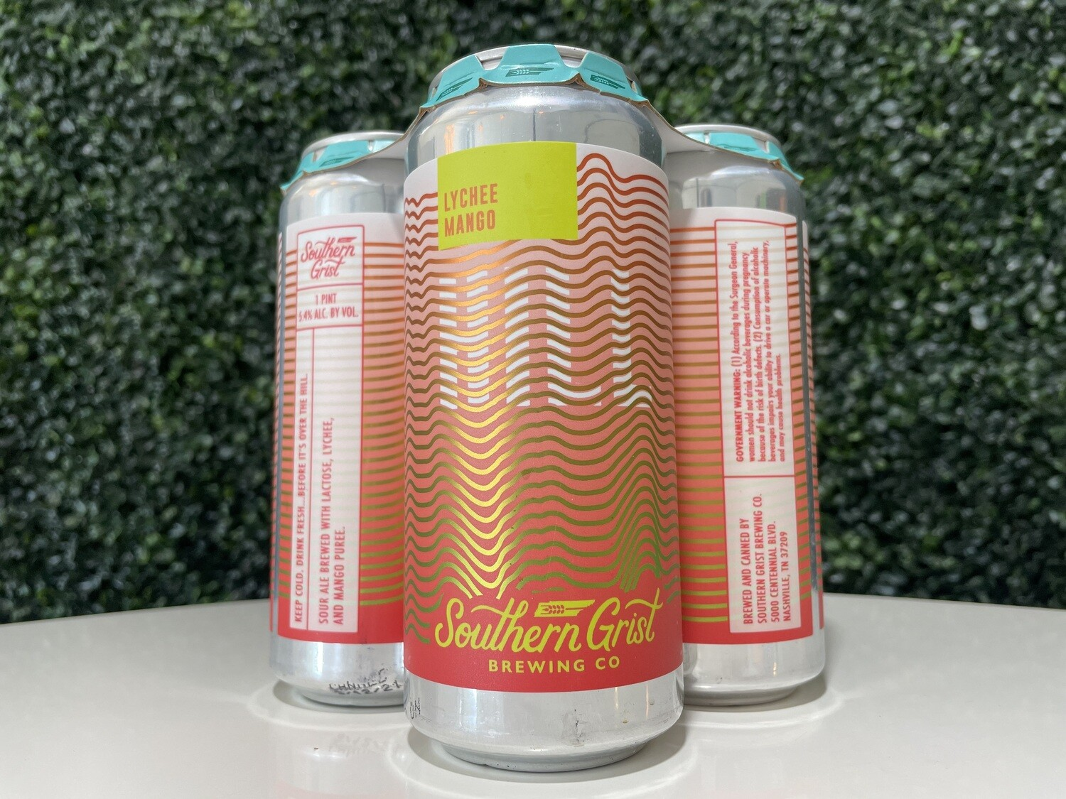 Southern Grist - Lychee Mango Hill - Fruited Sour - 5.4% ABV - 16oz Can