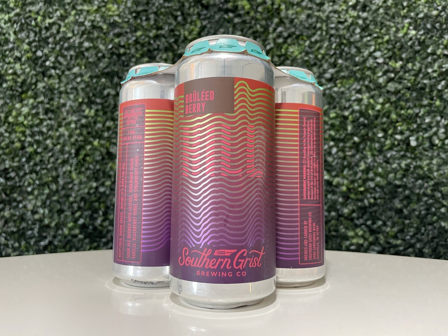 Southern Grist - Bruleed Berry Hill - Fruited Sour - 5.6% ABV - 16oz Can