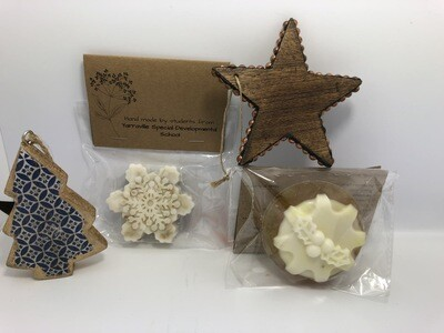 HAND MADE SOAPS - BOX OF 3 ASSORTED