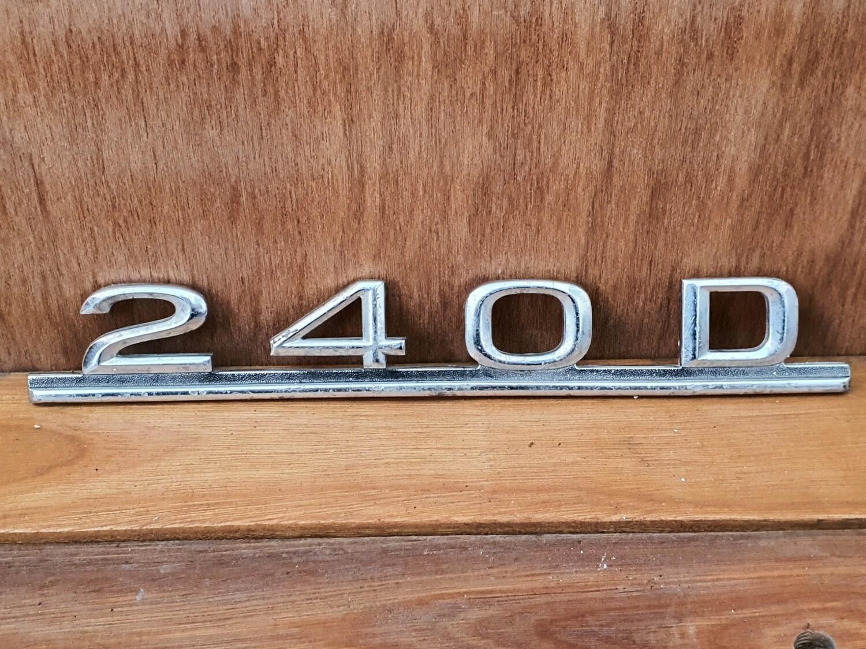 Mercedes-Benz 240D boot badge