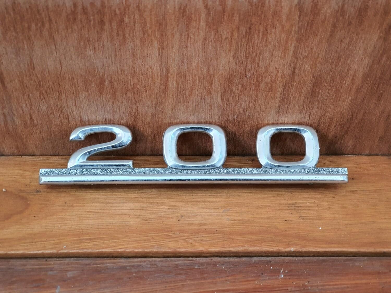 Mercedes-Benz 200 boot badge