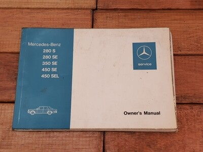 Mercedes-Benz owners manual (W116)
