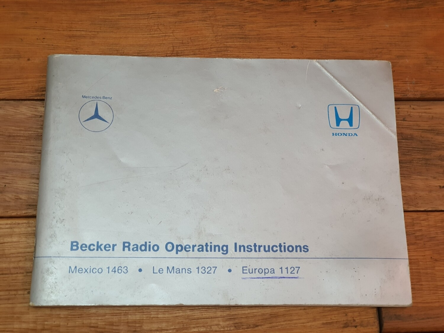 Mercedes-Benz Becker Radio Operating Instructions