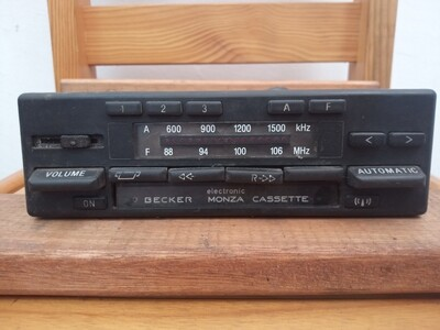Becker Monza radio cassette
