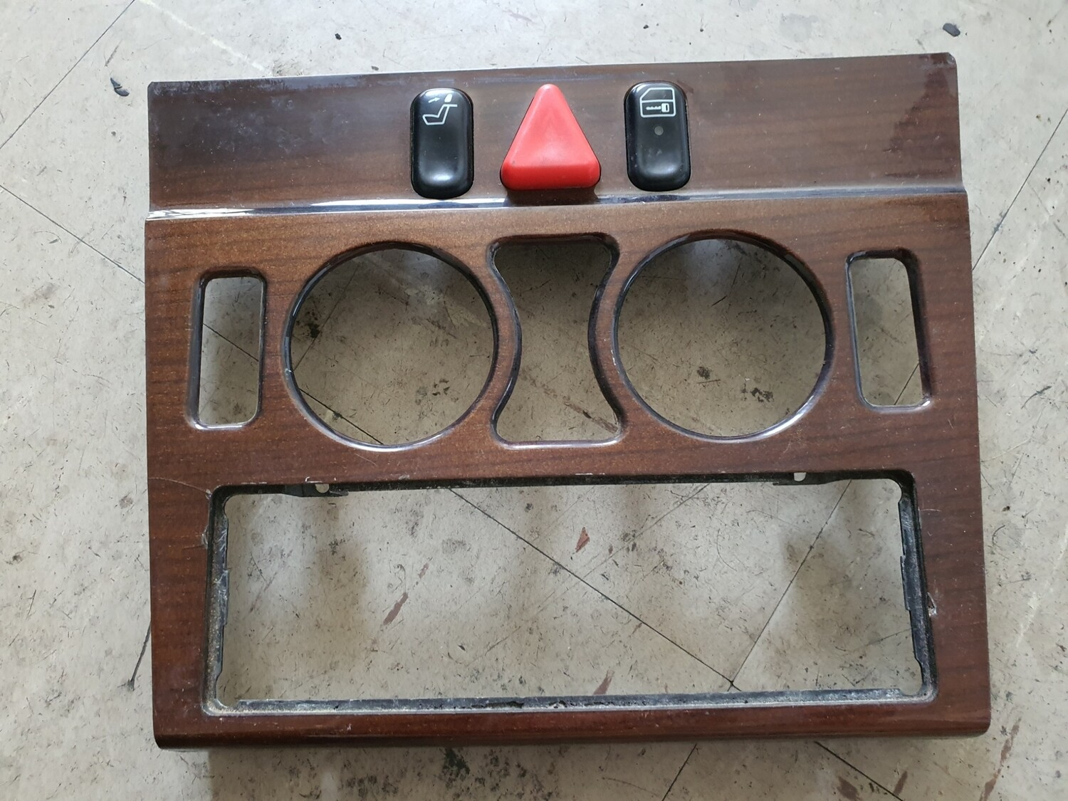 Mercedes-Benz Center Console Wood Trim With Switches (W202)