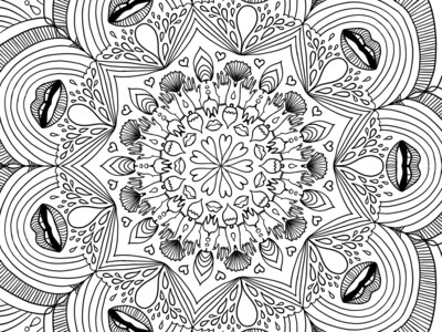 COLORIAGE #2  - Bouches