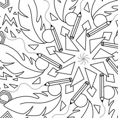 COLORIAGE #3  - Crayons