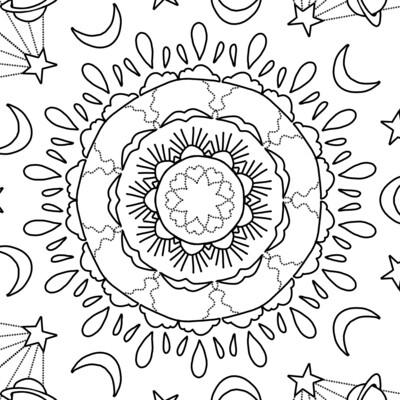 COLORIAGE #4  - Cosmos