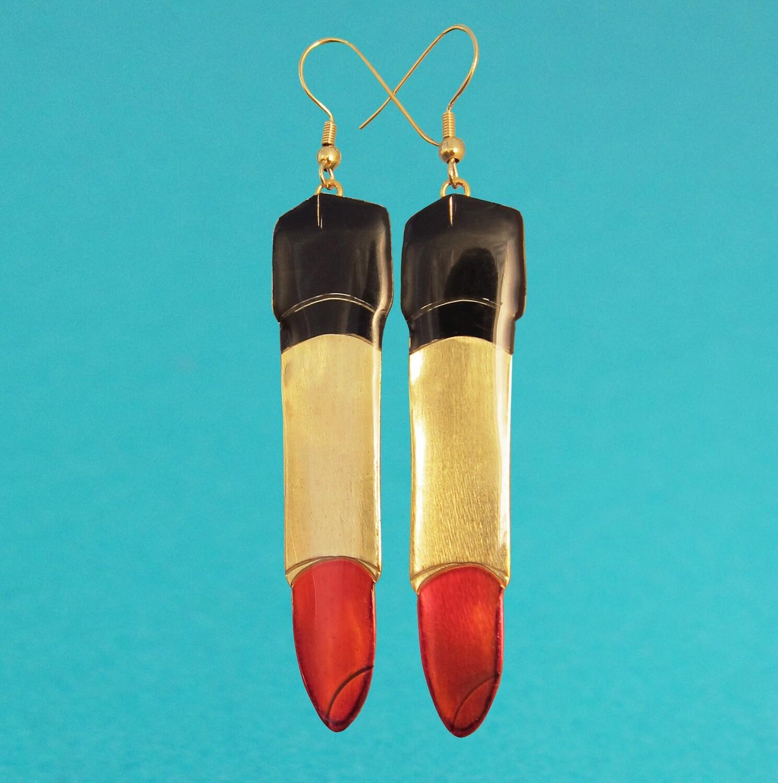 Boucles d'oreilles Lipstick