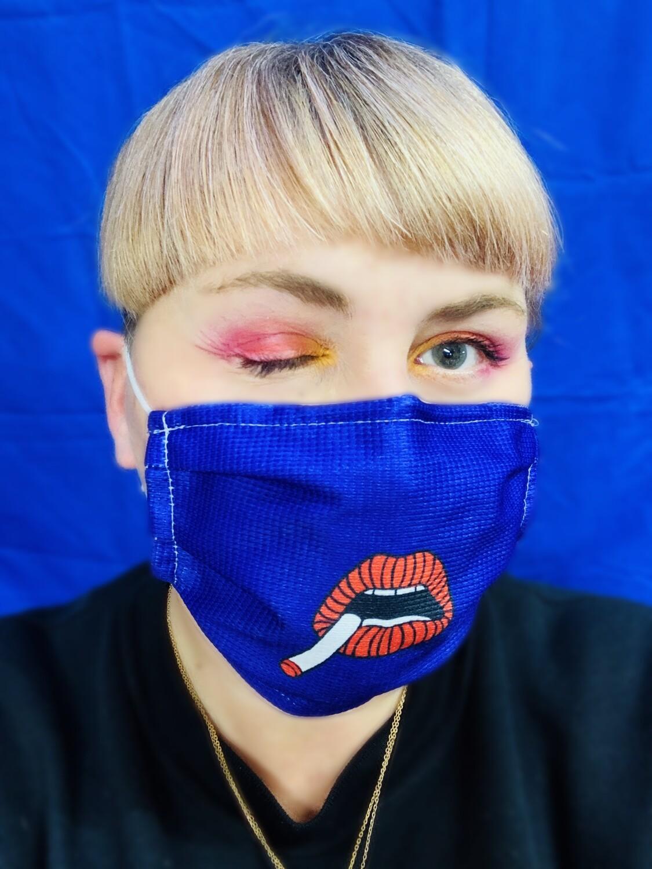 Masque Fumeuse Bleu violet