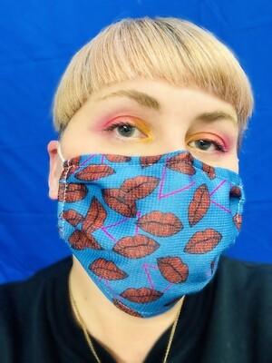 Masque Bleu Bouche et triangle