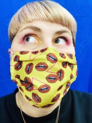 Masque Moutarde Bouche et triangle
