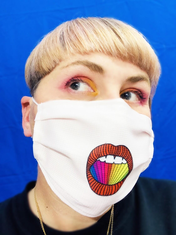Masque Bouche Bée Rose pâle - Rainbow