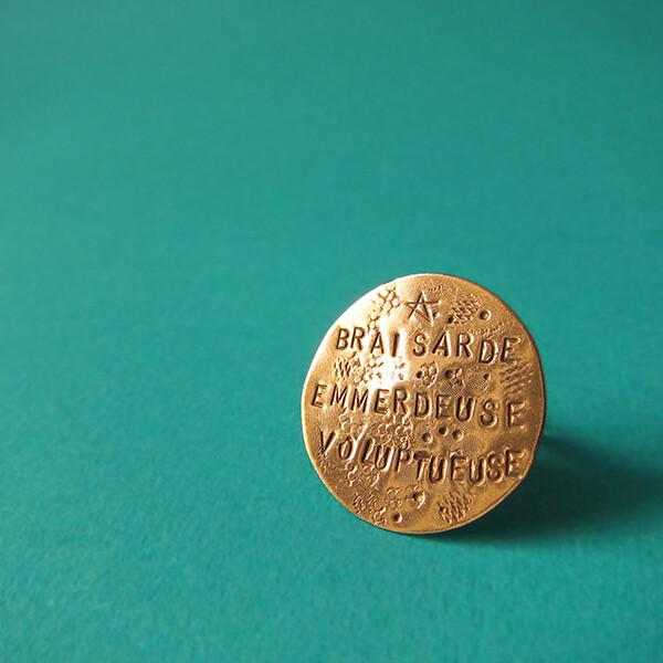 Bague Médaille plate