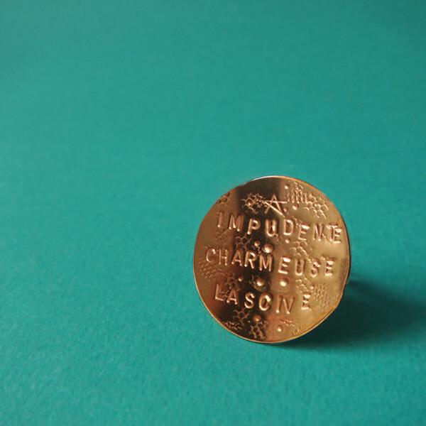 Bague Médaille arrondie