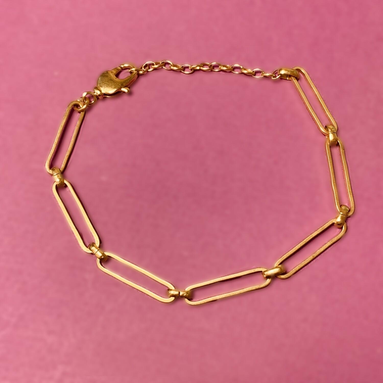 Bracelet maillon rectangulaire - Grands anneaux