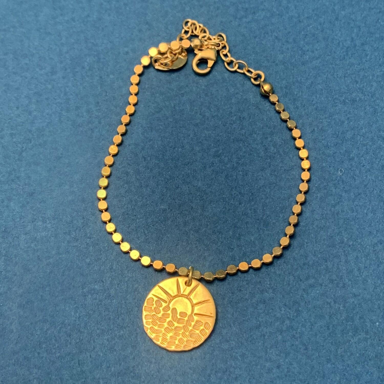 Bracelet Soleil et vaguelettes