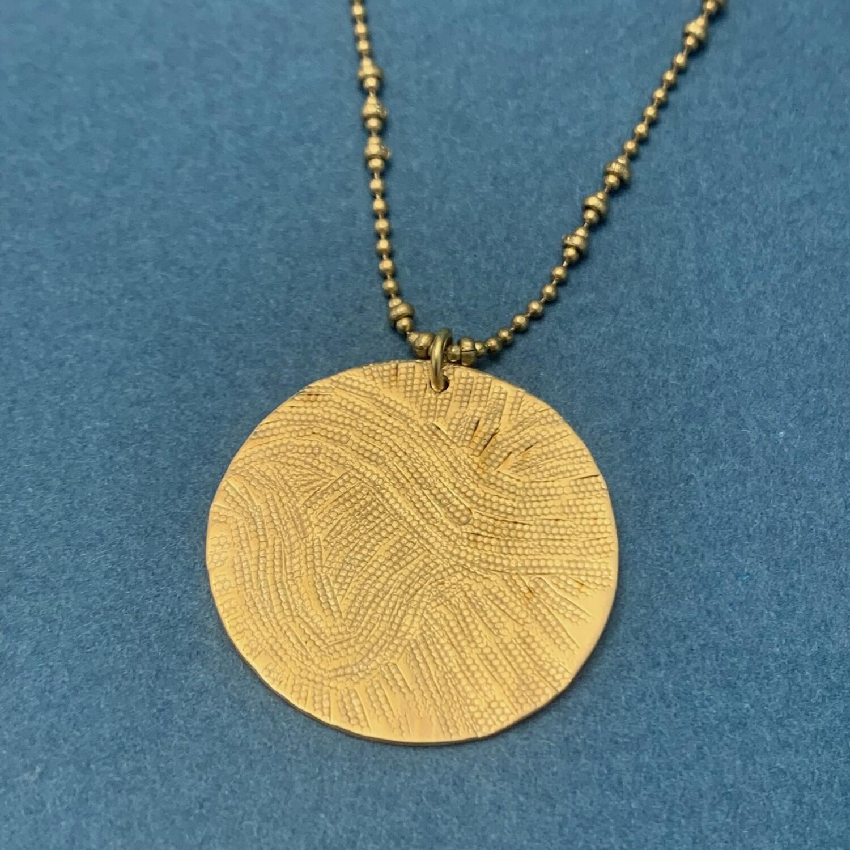 Collier Médaille Empreinte