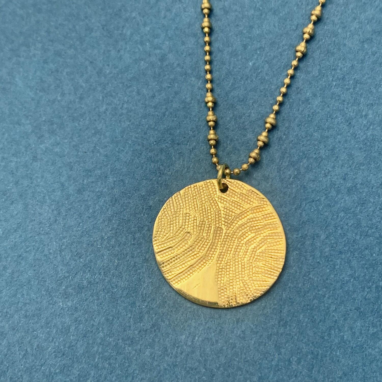 Collier Empreinte - Petite Médaille