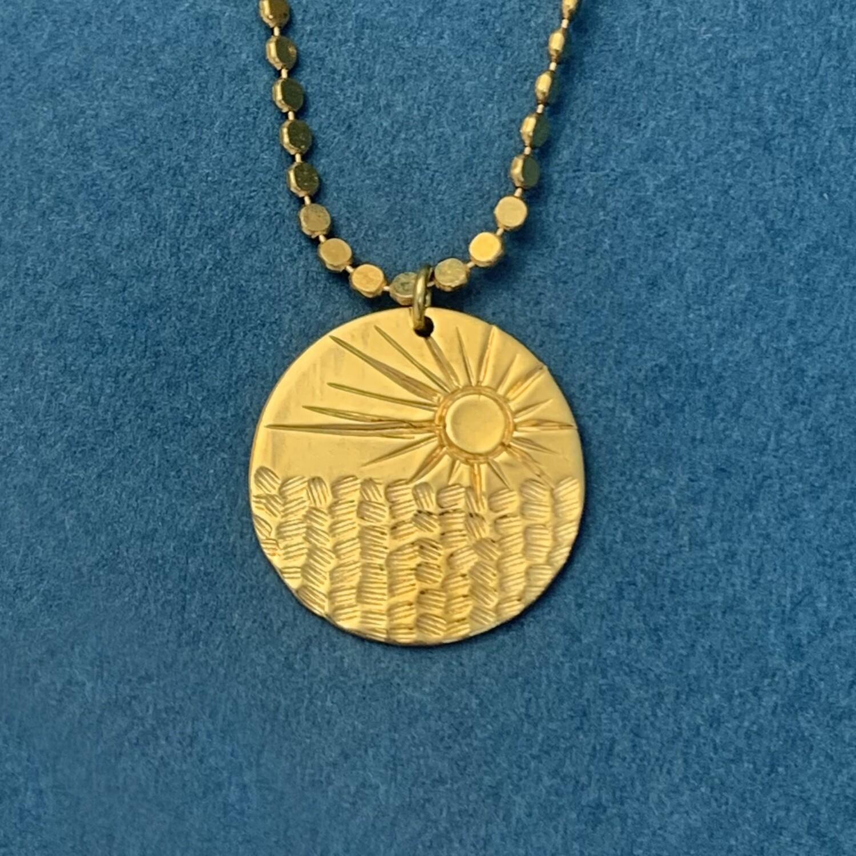 Collier Médaille Sunset