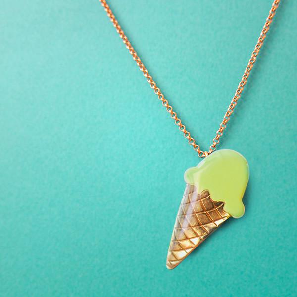 Collier Ice Cream Vert