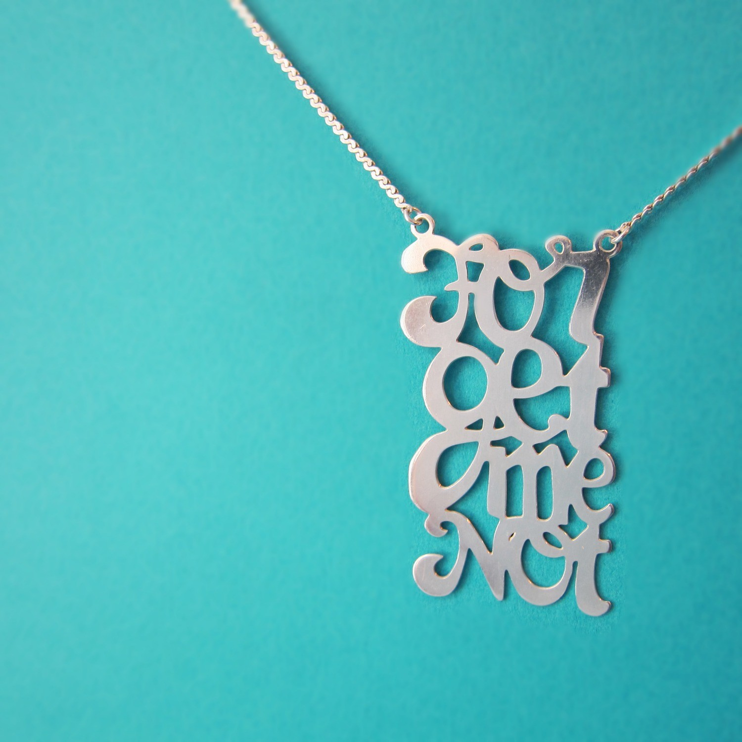 Collier Forget Me Not - Argent
