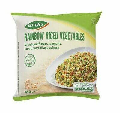 Ardo Rainbow Riced Vegetables Fresh Frozen (Belgium) 450gms