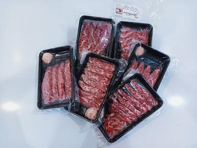 Saga A5 Ribeye Cap Mini Steak and Yakiniku Cut