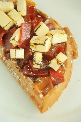 QUESO DEL PAIS Y GUAYABA  (1/2 waffle)