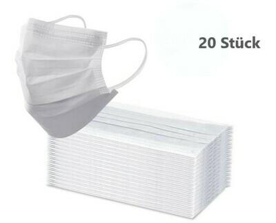 Einweg Mund-Nasen Maske 20er Pack (Steril) - Kostenloser Versand innerhalb Deutschland